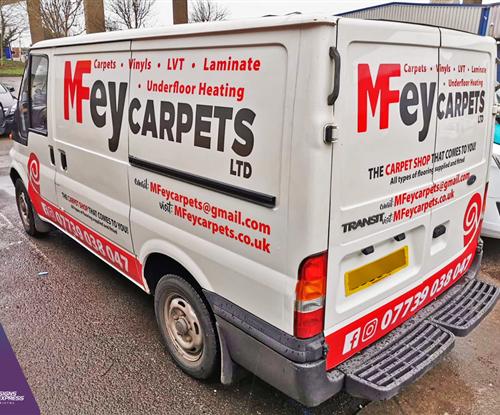 Van Wrapping - MFey Carpets Bristol