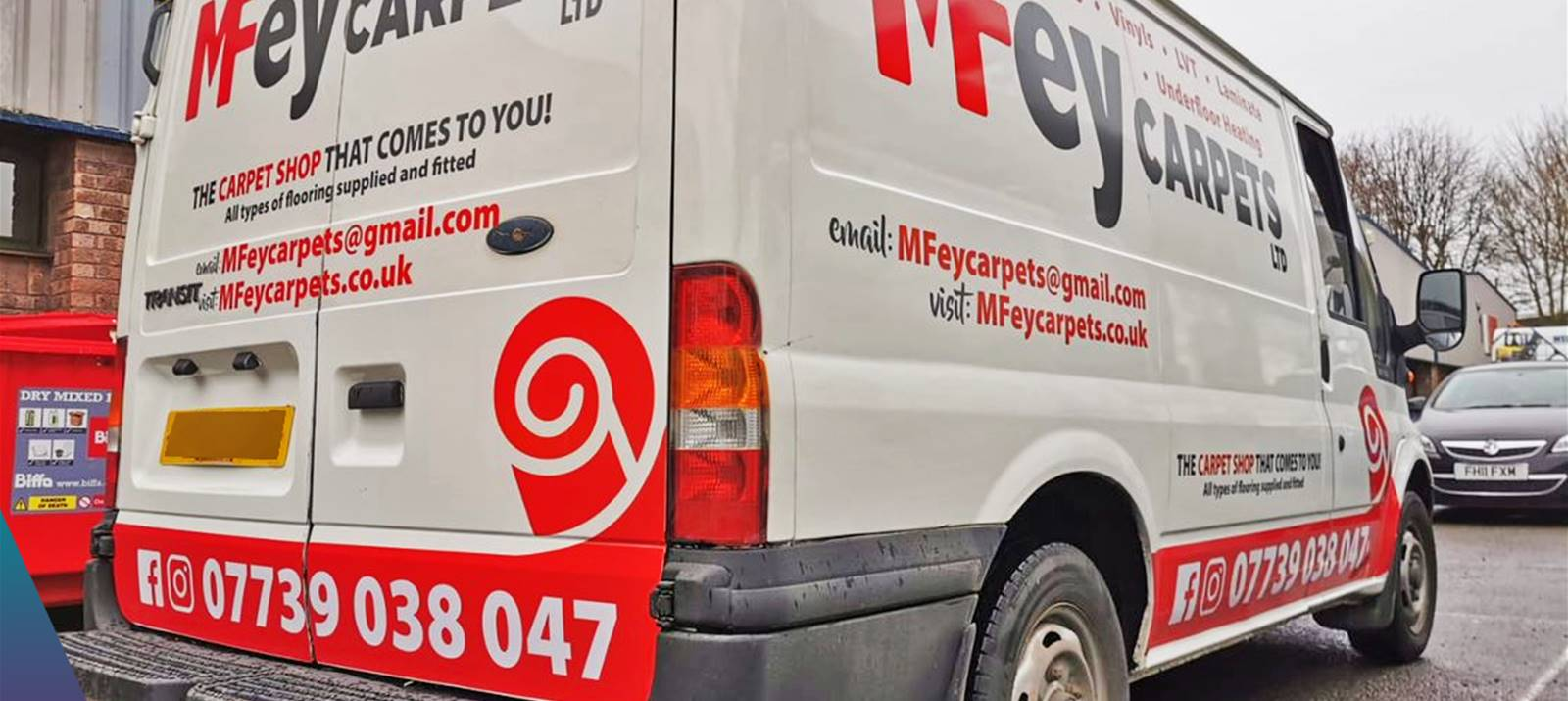 Vehicle Wrap for MFey Carpets