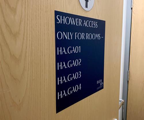 Student Accommodation Signage
