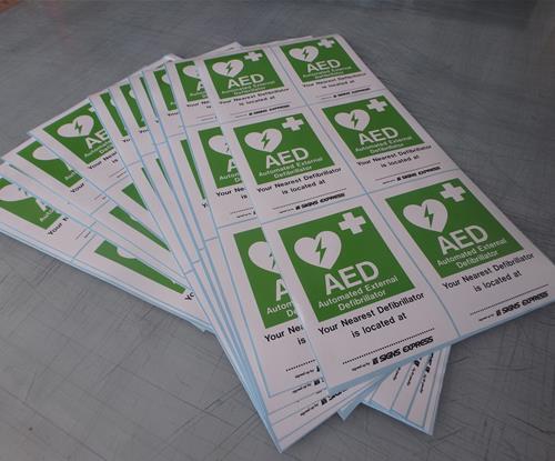 Nearest Defibrillator stickers