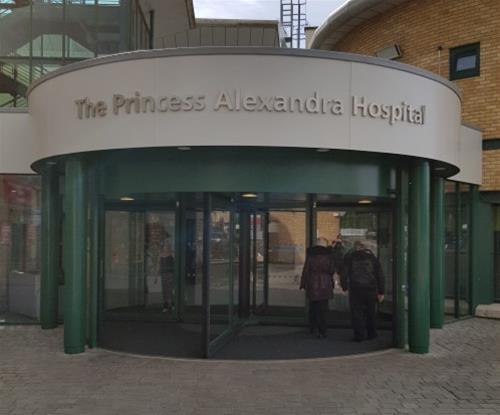 Hospital new entrance external signage