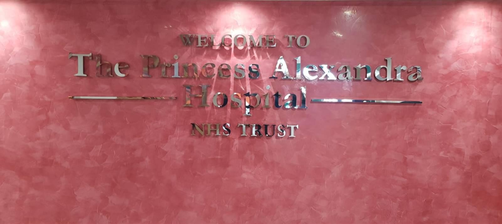 Polished Steel Lettering for hospital entrance lobby