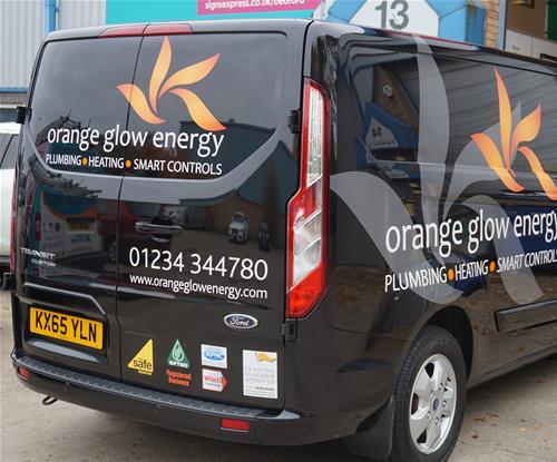 Van Graphics on company vehicle