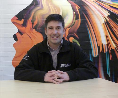 Simon Ford, Operations Manager at Signs Express