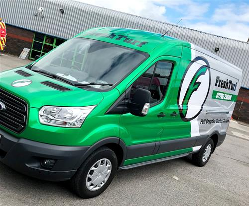 Partial vehicle wrap by Signs Express