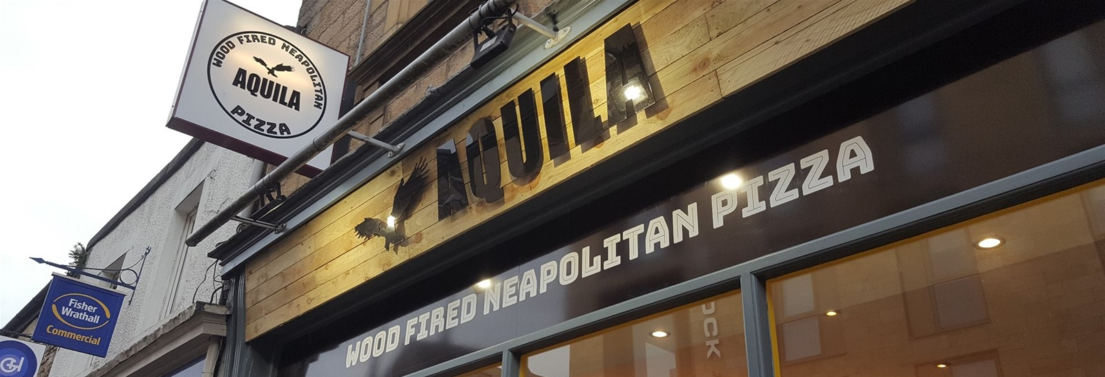 Fascia signs for pizza restaurant by Signs Express