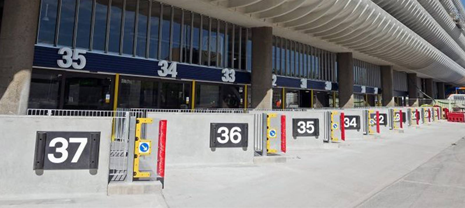 preston bus station conlon signage project custom fitted