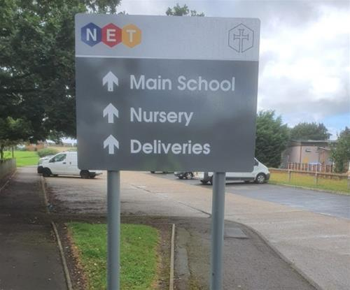 School directional signage
