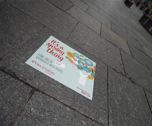 Floor graphic for Princesshay Shopping Centre in Exeter