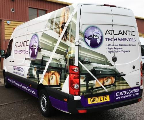 Van wrap completed for Atlantic T-S Harlow