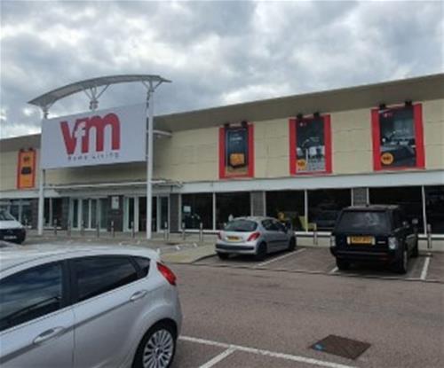 External business signs for VFM Home Living shop