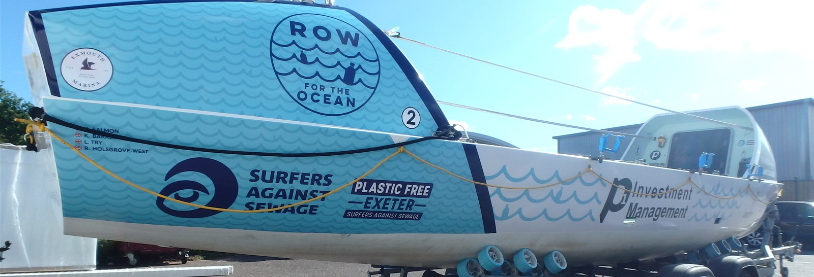 Row for the Ocean graphics Signs Express Exeter