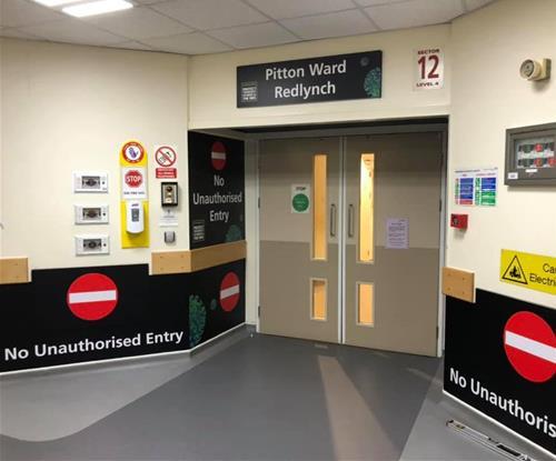No unauthorised entry signage