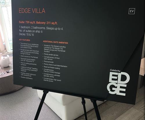 Display Sign Celebrity Edge