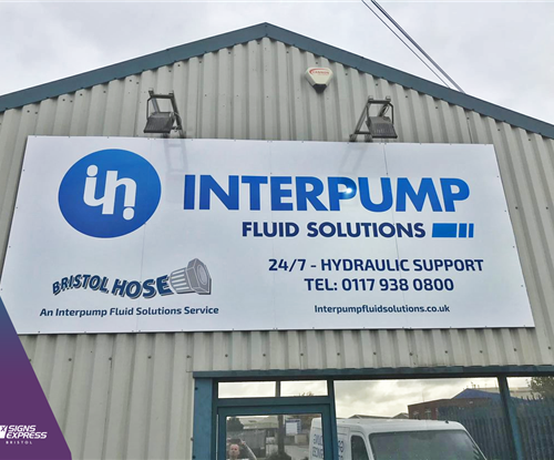 Interpump Shop Signage Avonmouth