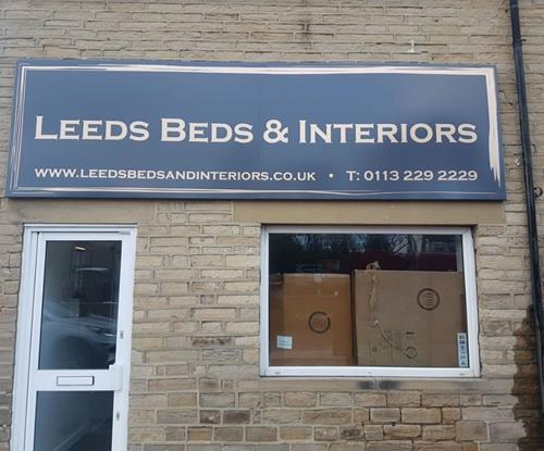 Aluminium tray sign for Leeds based business