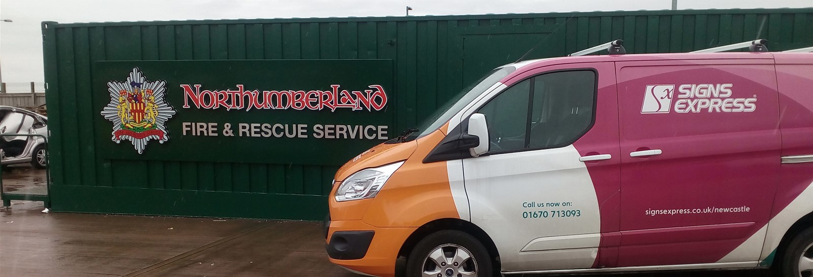 New signage for Northumberland Fire & Rescue Service