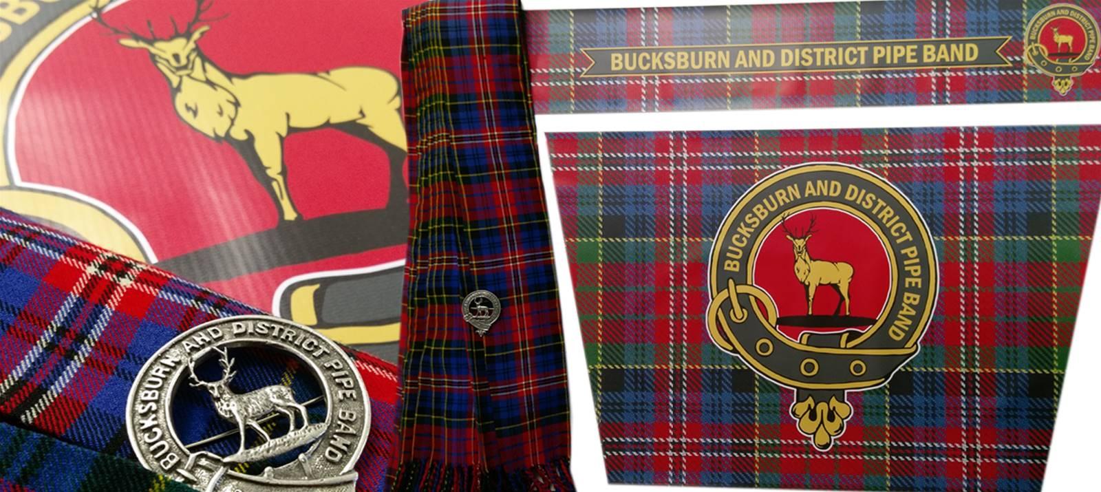 Signs Express Aberdeen Banner, Bucksburn & District Pipe Band