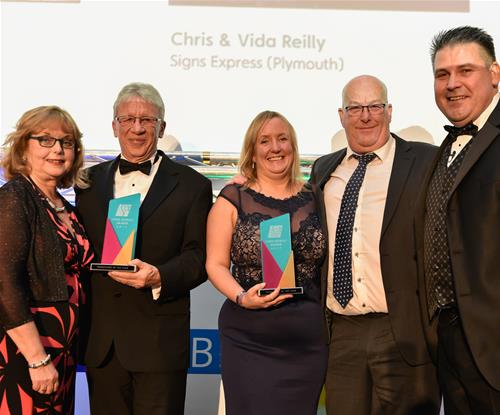 Franchisees of the Year - Plymouth and Portsmouth with MD Craig Brown