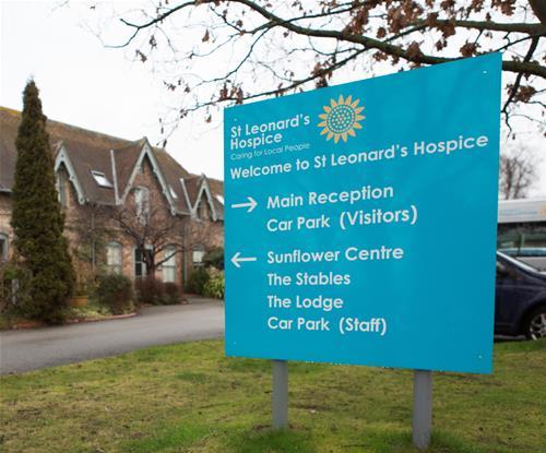 Directional Sign for St Leonards Hospice