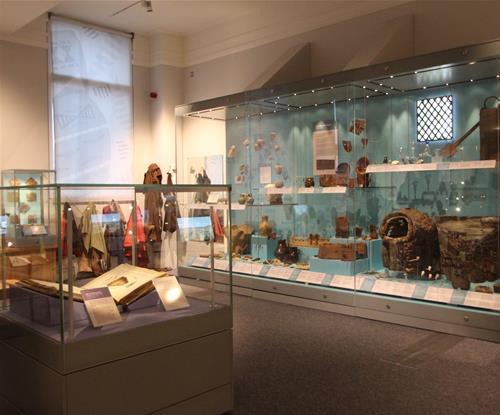 Artefact displays at the museum