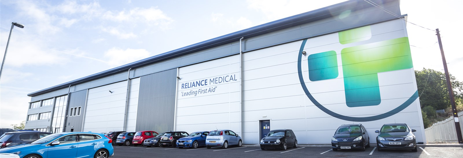 Signs Express Stoke Install large logo for Reliance Medical