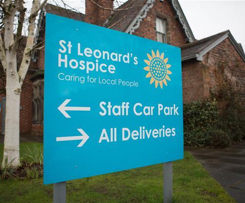 Sign Panel for St Leonards Hospice