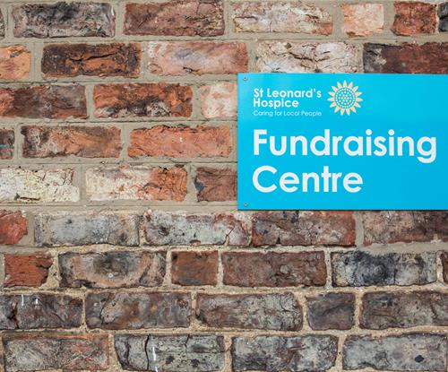 Sign Panel for the Fundraising Centre