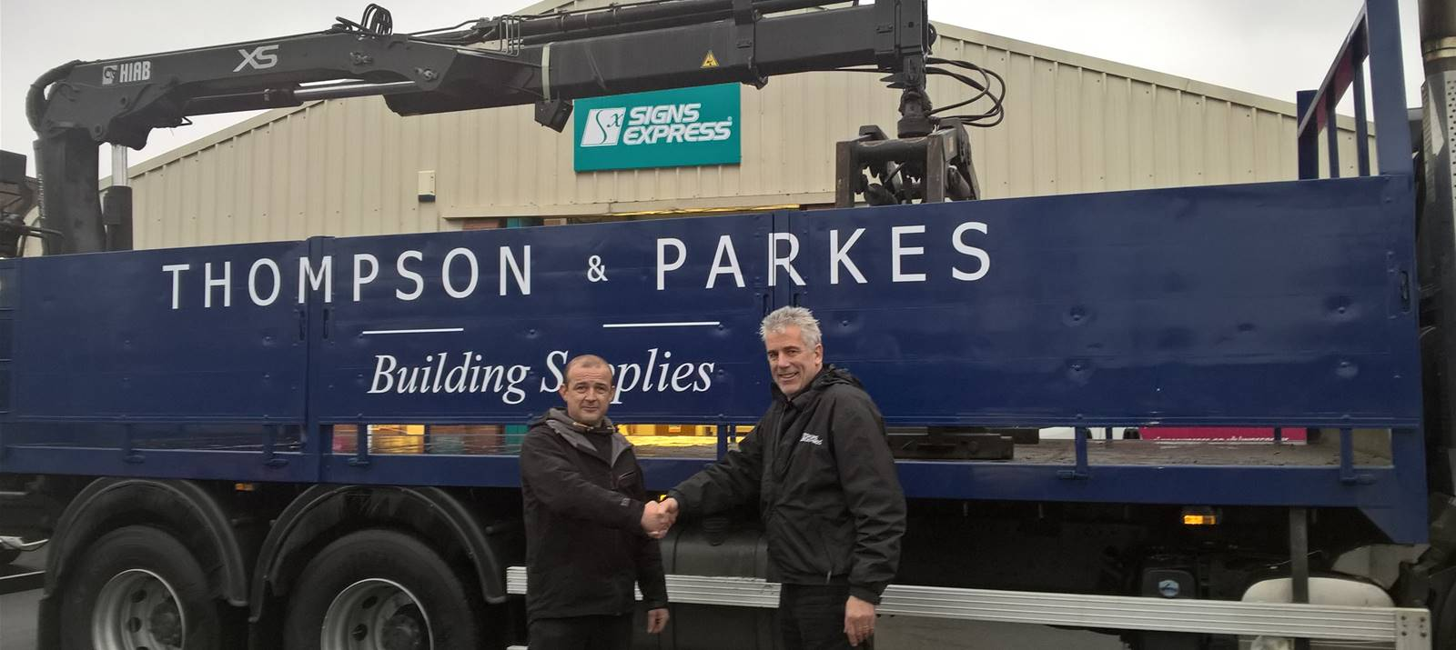 Vinyl graphics for building services lorry in Worcester