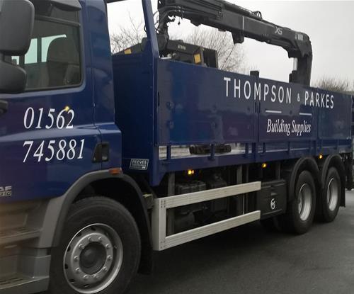 Thompson & Parkes lorry graphics