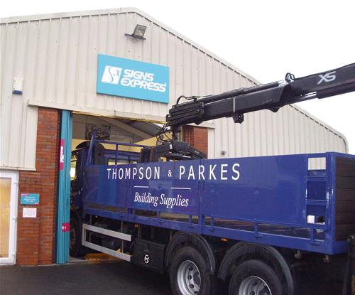 Getting the Thompson & Parkes lorry into the vehicle bay!