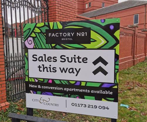 Signage: Factory No.1 Bedminster