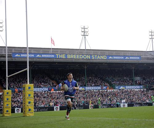 The Breedon Stand completed for the Leicester Tigers first game