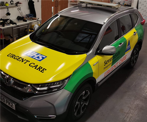 Highly visible NHS urgent care vehicle