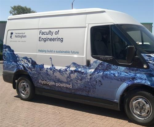Partial van wrap by Signs Express