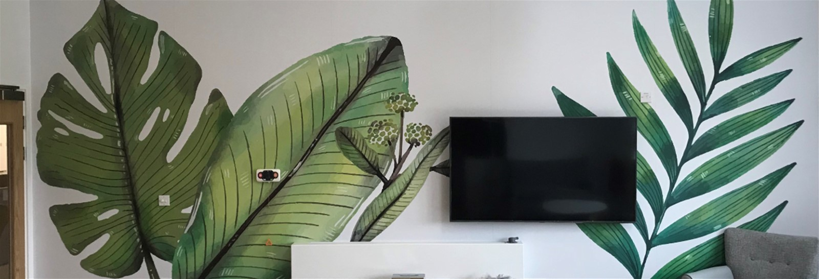 Wall graphics in company breakout area