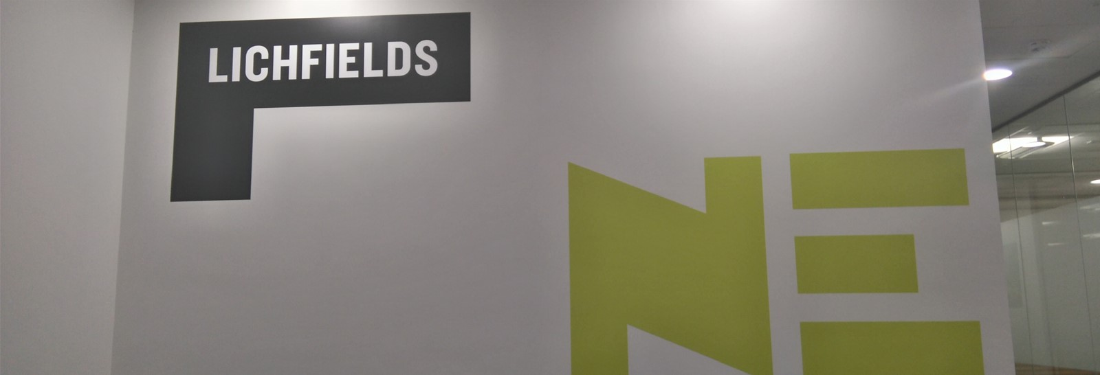 Wall graphics for Lichfields