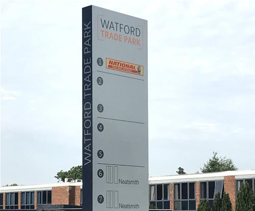 Watford Trade Park Totem Sign