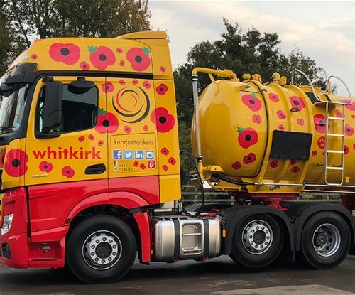 Centenary themed tanker graphics