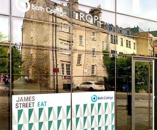 Window Graphics for Bath College