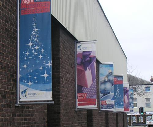 Exterior Christmas Banner Signage by Signs Express