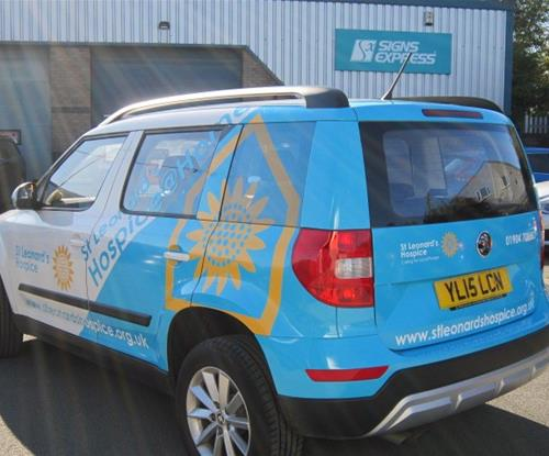 Vehicle Wrap for St Leonards Hospice at Home